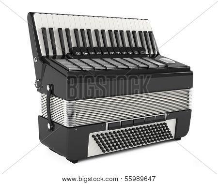Accordion harmonica isolated