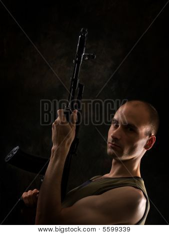Man With The Kalashnikov Gun