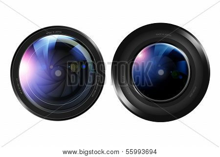Two Camera Lenses
