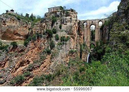 New bridge and gorge, Ronda, Spain.