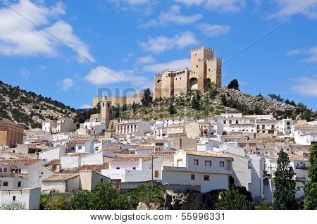 White village with castle, Velez Blanco.