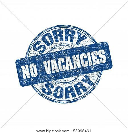 No vacancies rubber stamp
