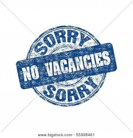 No vacancies rubber stamp