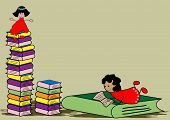 pic of storytime  - Cute girl reading book  - JPG