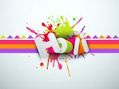 pic of holi  - Indian festival Happy Holi celebration concept with stylish text Holi on colorful splash background - JPG