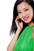 An Attractive Asian Woman With Phone