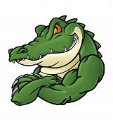 stock photo of alligator  - Crocodile Mascot - JPG