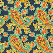 foto of teardrop  - beautiful   paisley seamless background - JPG