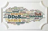 Ddos Concept On White Wooden Frame Board