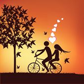 image of tandem bicycle  - Doodle lovers - JPG