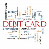Debit Card Word Cloud Concept