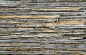 pic of barn house  - Old wooden wall darkened from the weather  - JPG