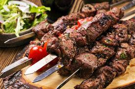 picture of souvlaki  - lamb kebab  - JPG