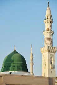 stock photo of prophets  - Prophet Muhammed holy mosque in Medina - JPG