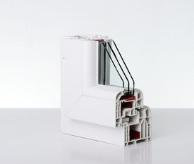 image of white vinyl fence  - Plastic window profile - JPG