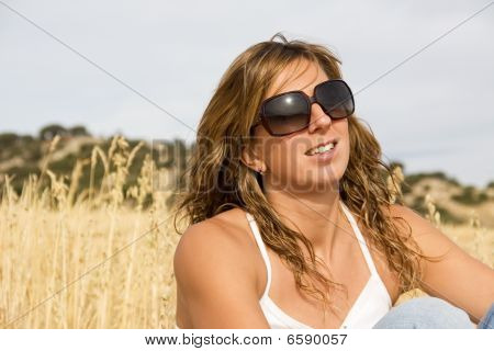 Girl enjoying in the nature