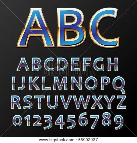 Vector Metal Font