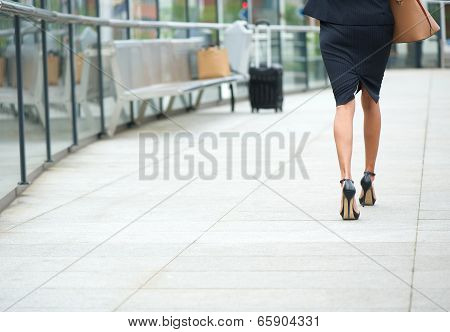 Businesswoman Walking Away