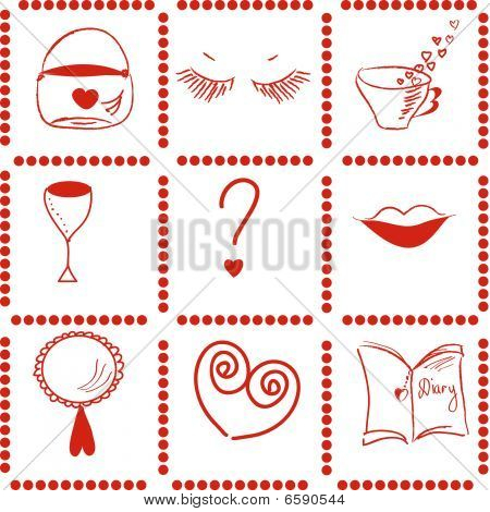 Girl things pattern
