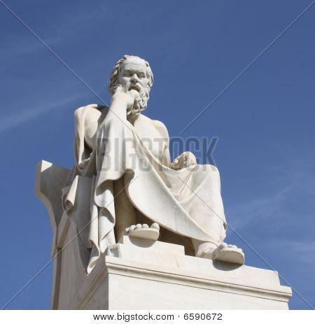 Statue von Sokrates In Athen, Griechenland