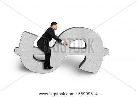 Riding On Concrete Money Symbol