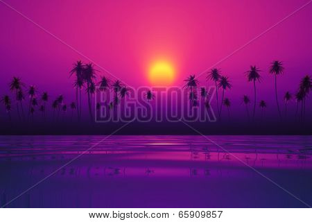 Dramatic Purple Sunset
