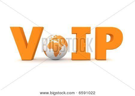 Voip World Orange - Small Globe