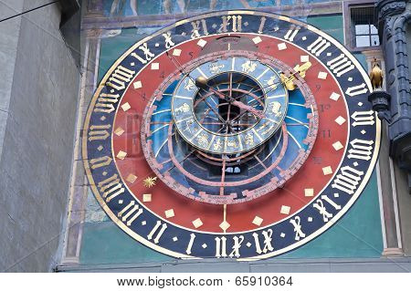Bern. Fragment Zodiacal Hours Clock Tower