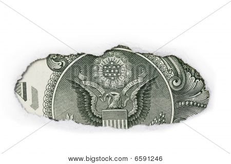 Back Of One Dollar Bill