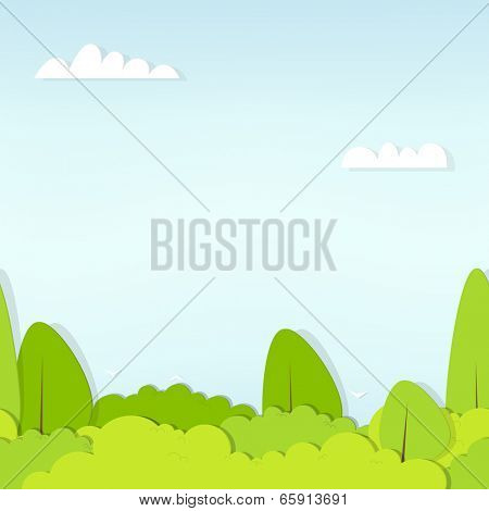 seamless pattern cartoon flat forest