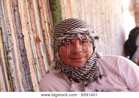 Man In Bedouin Tent