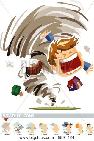 Tornado-Wetter-Ikone