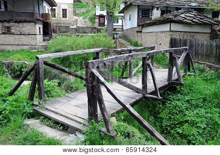 Wooden Bridge In Bozhentsi Village