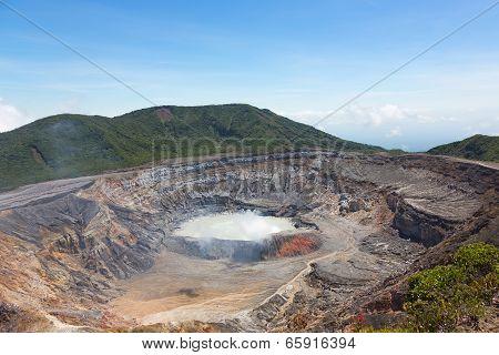 Crater of Poas Volcano, Costa Rica