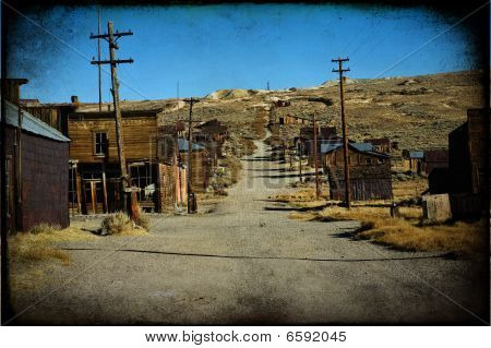 Grunge Texture Of A Western Ghost Town