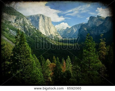Grunge Texture Of Yosemite National Park, Usa