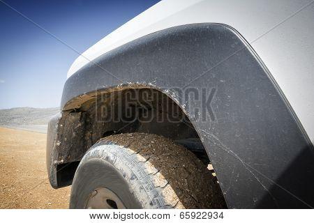 Closeup Off Road Car