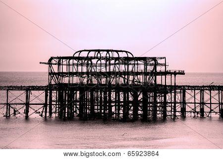 Brighton's West Pier by Twilight