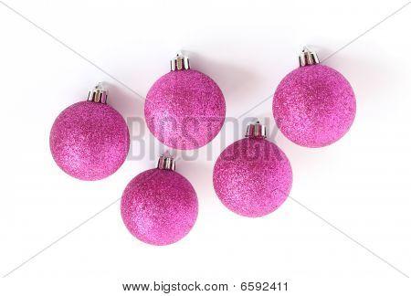 Purple Christmas Tree Bauble Decorations