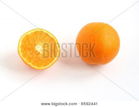 Whole Orange And Half Orange