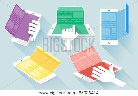 Flat design vector illustration concept for mobile