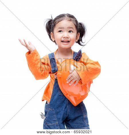 Smile Asian Engineer Baby Girl