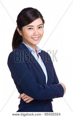 Smiling asian buisnesswoman