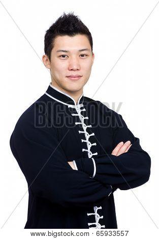 Chinese kung fu master portrait