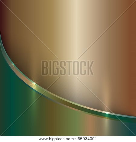 vector abstract precious old metal background with curve