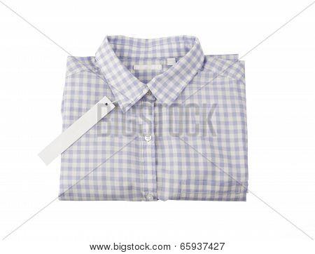 Plaid shirt with tag