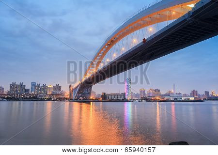 Lupu Bridge In Nightfall