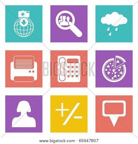 Color icons for Web Design set 49