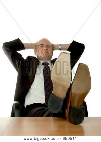 businessman relaxing