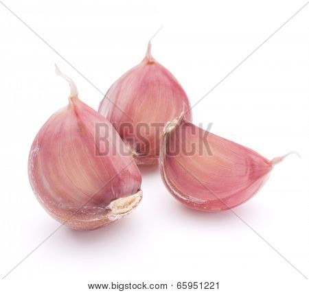 Garlic clove isolated on white background cutout